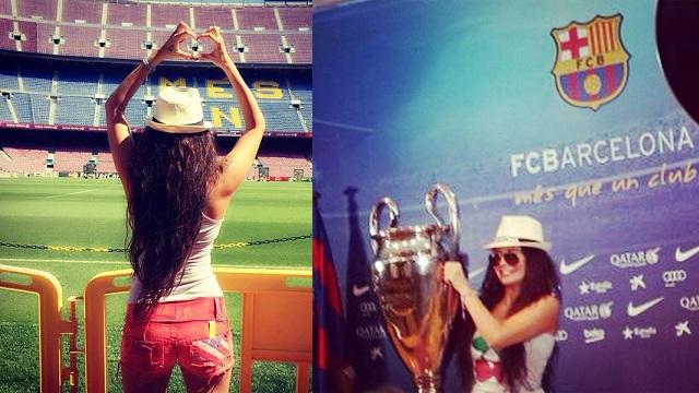 Ebru Polat Camp Nou'da