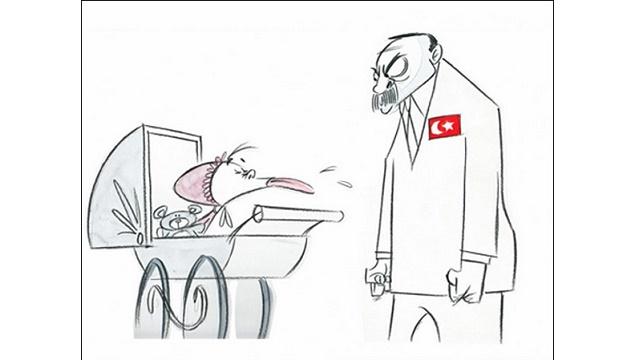 Washington Post'tan Erdoğan'ı kızdıracak karikatür