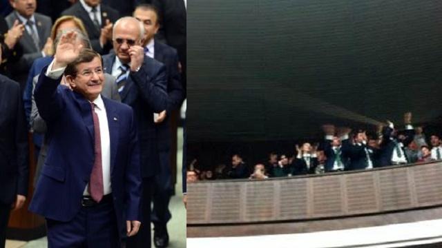Davutoğlu, Erdoğan sloganıyla karşılandı!