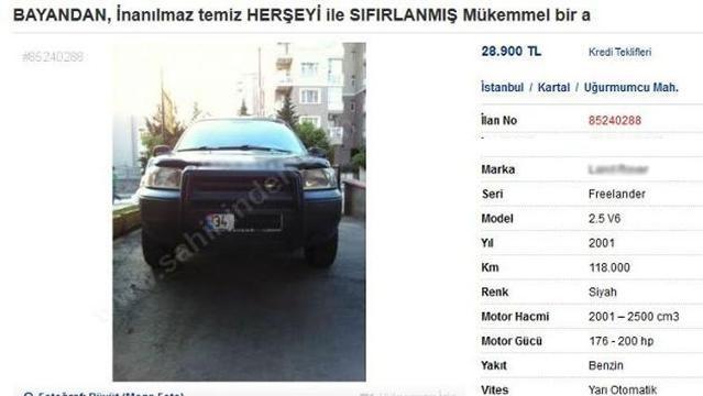 Efsane satılık araba ilanı! Karısına demediğini bırakmadı