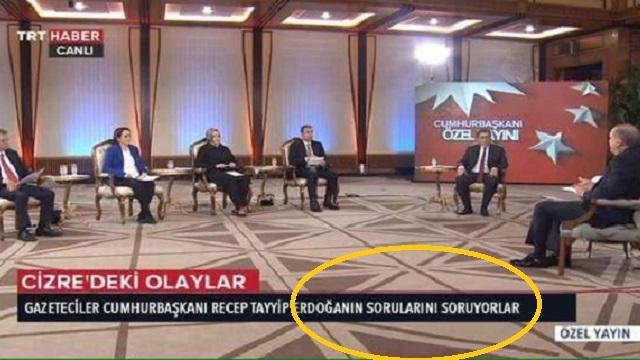 Erdoğan'ın canlı yayın KJ'sine fotomontaj