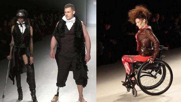 Engelli mankenler podyumda engelleri aştılar