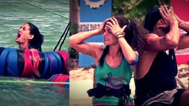 Survivor'da Sahra'nın korkutan kaza anı