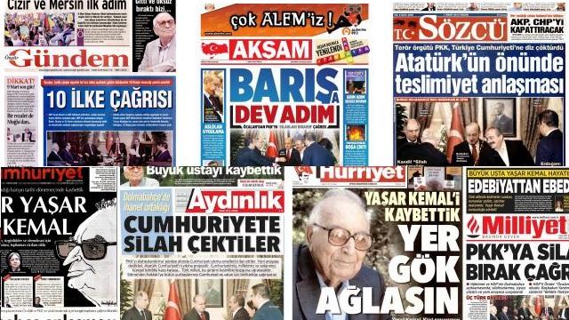 PKK'ya tarihi çağrıyı gazeteler nasıl gördü?