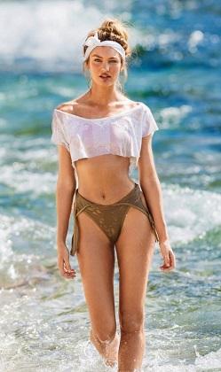 Candice Swanepoel Maxim dergisi için poz verdi