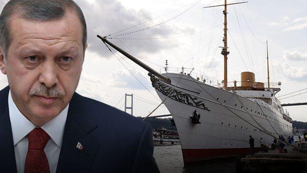 Erdoğan ilk kez bir yabancı konuğu Savarona'da ağırlıyor