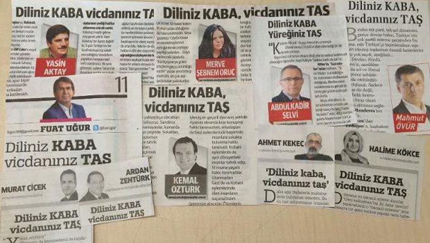 13 köşe yazarı, aynı başlık: Diliniz KABA, vicdanınız TAŞ!