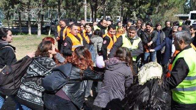 Özel güvenlikçiler kız öğrencilere saldırdı