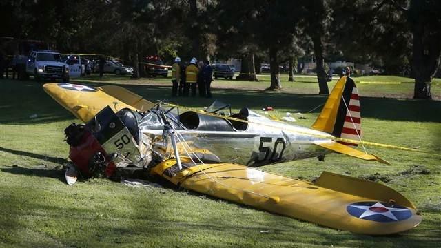 Ünlü aktörün uçağı yere çakıldı!