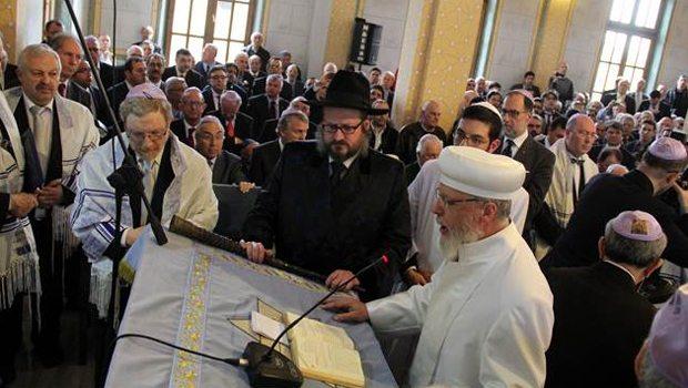 Sinagog açılışında Erdoğan için dua edildi