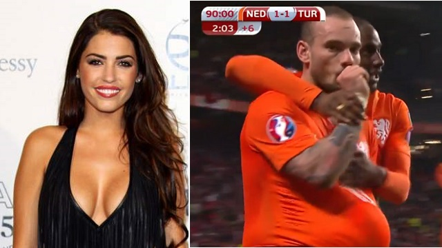 Golden sonra Sneijder'den hamile Yolanthe'ye selam