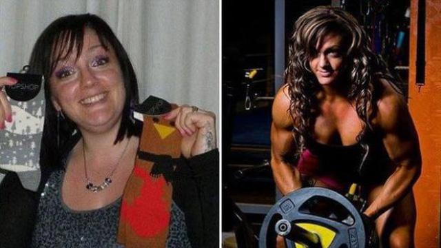 Ev hanımıydı vücut geliştirme şampiyonu oldu