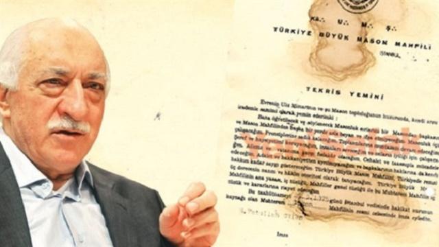 Yeni Şafak'tan şok iddia: Fethullah Gülen mason
