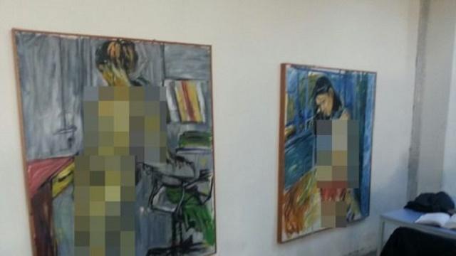 Üniversitedeki nü tablolar duvardan kaldırıldı