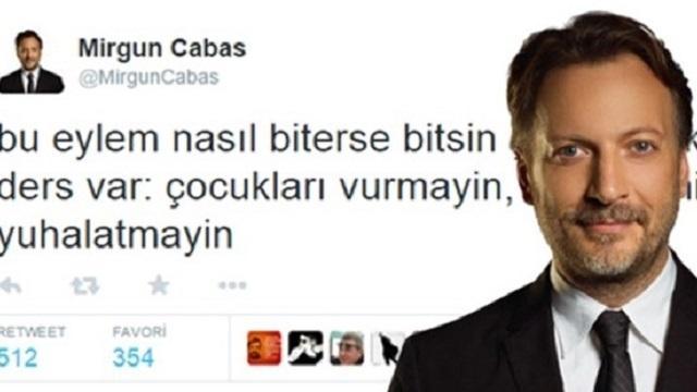 Mirgün Cabas o tweeti için özür diledi