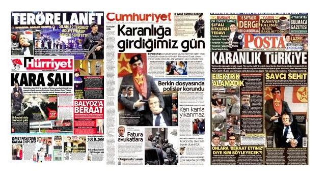 Hürriyet, Posta, Cumhuriyet ve Bugün'e terör soruşturması
