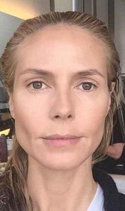 Heidi Klum da makyajsız selfie paylaştı