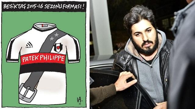 Beşiktaşlıları kızdıran Reza Zarrab karikatürü