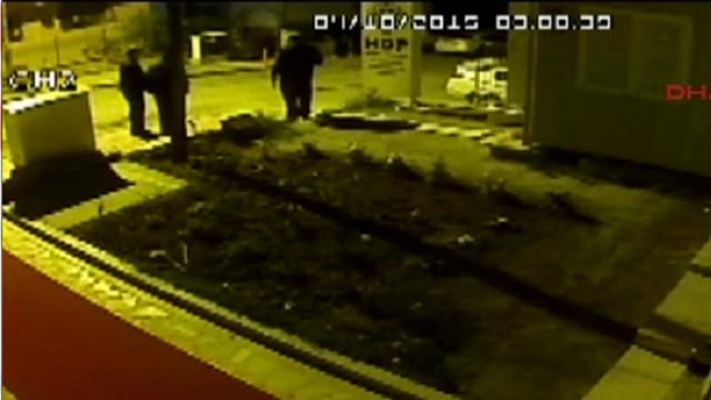 HDP'ye silahlı saldırı anı güvenlik kamerasında