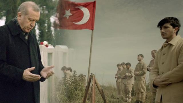 Erdoğan, Çanakkale 100. Yıl klibinde oynadı