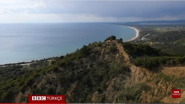 BBC Gelibolu'yu havadan görüntüledi
