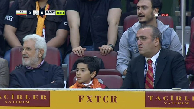 Savcı Kiraz'ın oğlu Galatasaray maçında