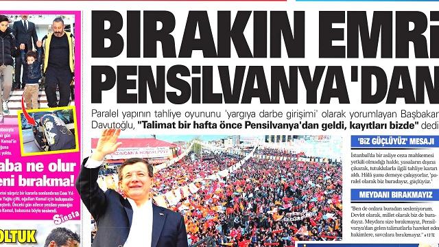 27 Nisan 2015 gazete manşetleri