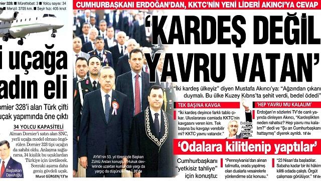 28 Nisan 2014 gazete manşetleri