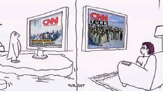 CNNTürk'ün penguen yayınlaması tam bir şapşallıktı