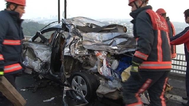 Derbi yolunda feci kaza! 1 ölü, 4 yaralı