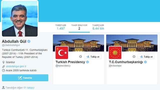 Gül, Erdoğan'ı takip listesinden çıkardı!