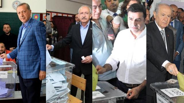 7 Haziran'da liderler nerede oy kullanacak?