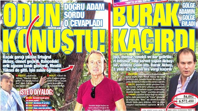 Takvim gazetesi odunla röportaj yaptı!