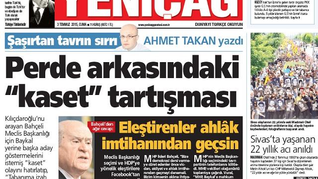 CHP'den Yeniçağ'ın manşetine sert tepki!