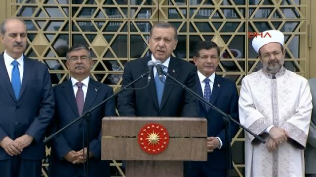Erdoğan, Saray'daki Beştepe Camiini ibadete açtı