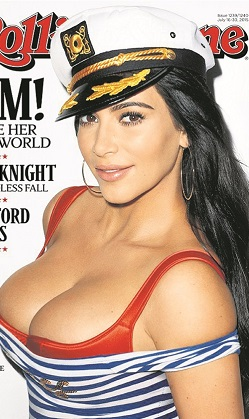 Kim Kardashian denizci oldu!