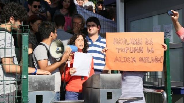 Caddebostan plajında turnike protestosu