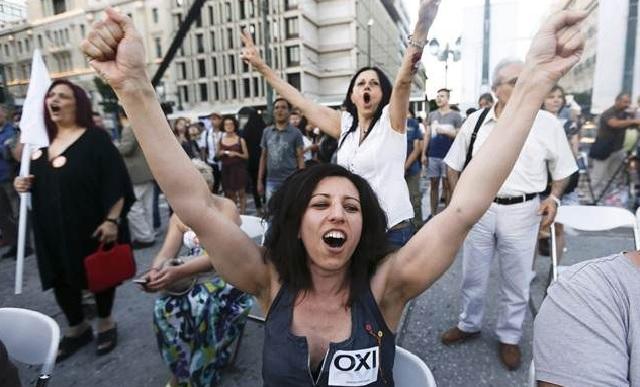 Yunanistan AB dayatmasına Hayır dedi! Yüzde 61