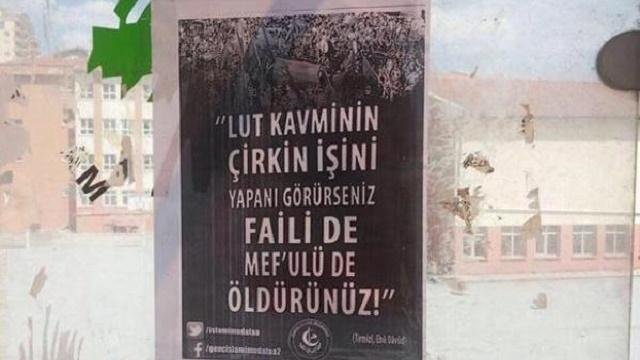 Ankara'da şok afiş: Eşcinselleri öldürün!