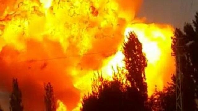 PKK doğalgaz boru hattını ateşe verdi