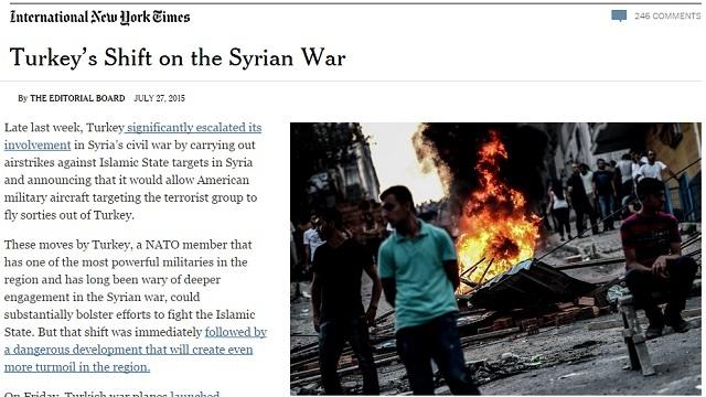 NYT: Türkiye'nin PKK operasyonu, IŞİD'le savaşı zayıflatabilir