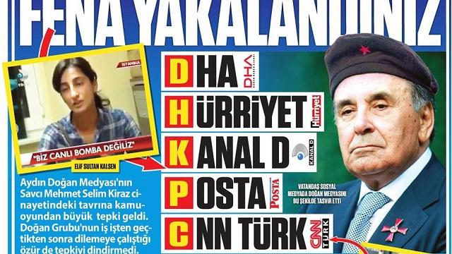 Güneş'in terörist Aydın Doğan manşetine 12 yıl hapis