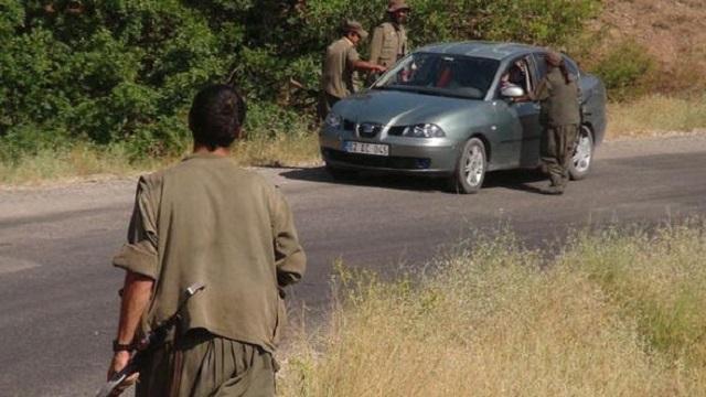 PKK yol kesti, astsubay patlak lastikle 4 km. kaçtı!