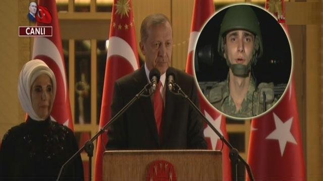 Erdoğan'dan askerlere görüntülü bağlantı sürprizi