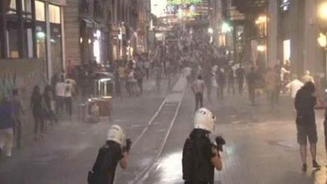 Taksim'de polis müdahalesi: Çok sayıda gözaltı var!