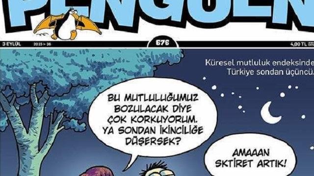 Penguen Türkiye'nin mutsuzluğunu kapak yaptı!