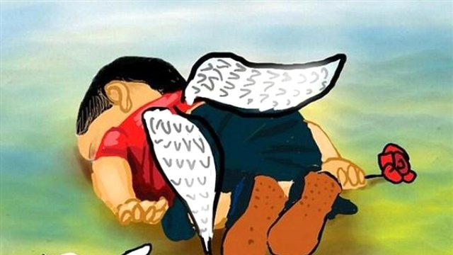 Yürek burkan Aylan Kurdi karikatürleri