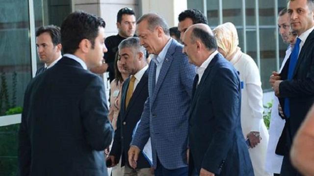 Erdoğan'dan eski vekile sürpriz ziyaret