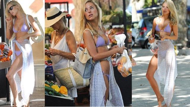 Kimberley Garner bikiniyle alışverişte!