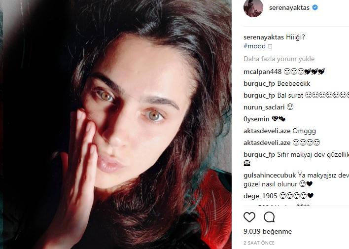 serenay aktaş makyajsız instagram ile ilgili görsel sonucu